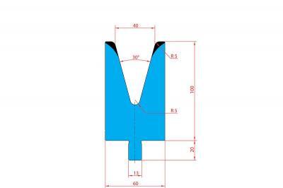 3214: Matrice Trumpf Wila V:40 à 30° H: 100