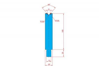 3226: Matrice Trumpf Wila V:8 à 84° H: 100