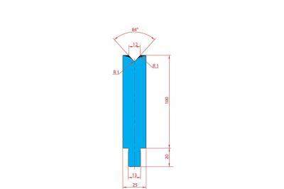 3228: Matrice Trumpf Wila V:12 à 84° H: 100