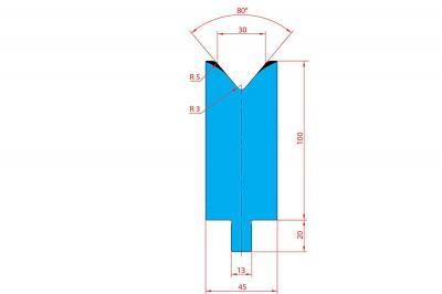 3232: Matrice Trumpf Wila V:30 à 80° H: 100