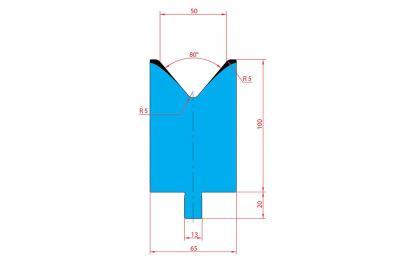3234: Matrice Trumpf Wila V:50 à 80° H: 100