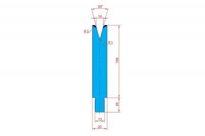 3238: Matrice Trumpf Wila V:10 à 30° R3 H: 100
