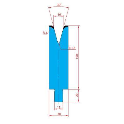 3240: Matrice Trumpf Wila V:16 à 30° R3 H: 100