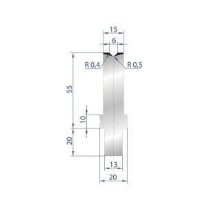 3241: Matrice Bystronic Beyeler V:6 à 88° H: 55