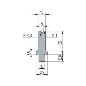 3251: Matrice Wila original V:8 à 86° H: 55