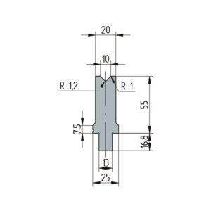 3252: Matrice Wila original V:10 à 86° H: 55