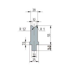 3253: Matrice Wila original V:12 à 86° H: 55