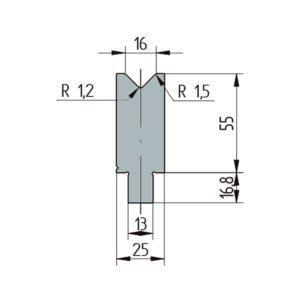 3254: Matrice Wila original V:16 à 86° H: 55