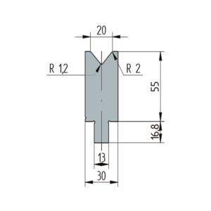3255: Matrice Wila original V:20 à 86° H: 55