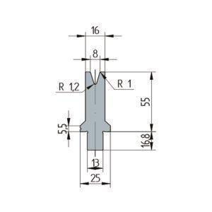 3261: Matrice Wila original V:8 à 30° H: 55