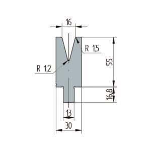 3264: Matrice Wila original V:16 à 30° H: 55