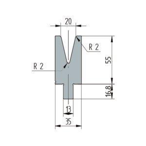 3265: Matrice Wila original V:20 à 30° H: 55
