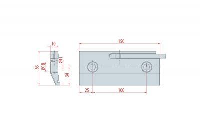 4009: Bride à levier H 63 mm