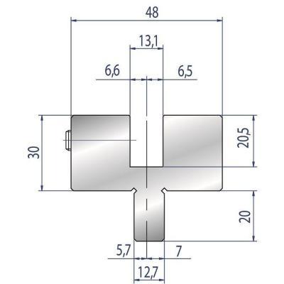 4305: Adaptateur matrice Beyeler ou Trumpf pour machine LVD