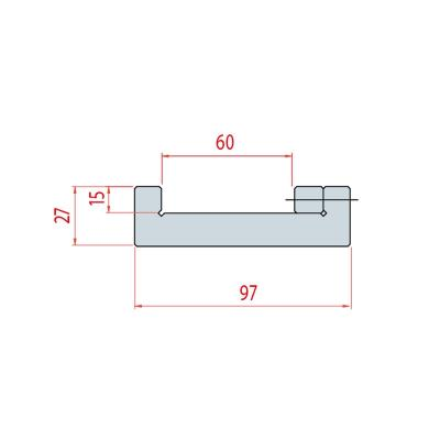 9010: semelle matrice 2100 mm