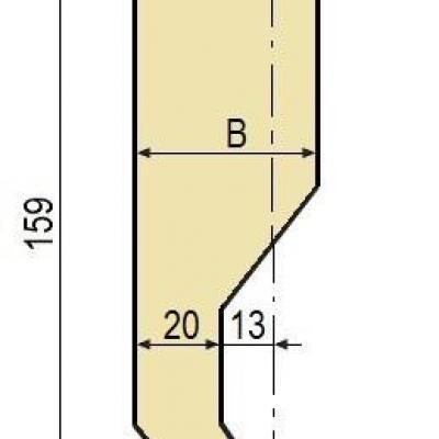 C10: Poinçon 78° r2 h 159 mm