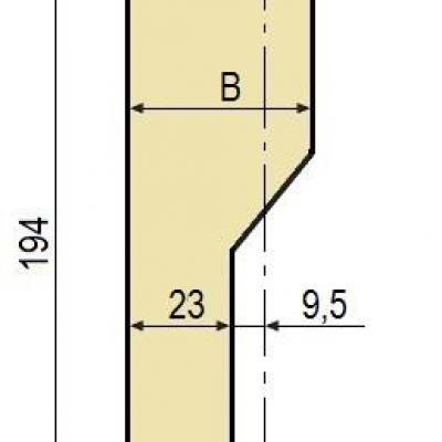 C15W: Poinçon 78° r2 h 194 mm