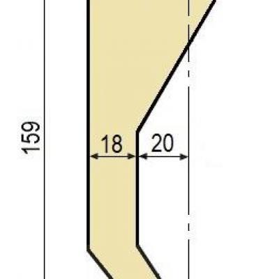 D10: Poinçon 78° r1 h 159 mm
