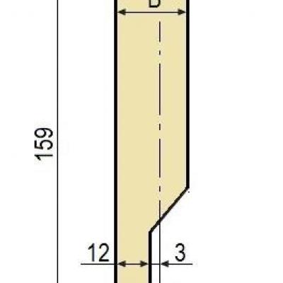 E10: Poinçon 78° r1 h 159 mm
