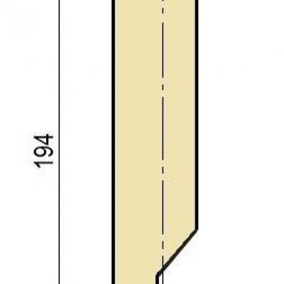 E15W: Poinçon 78° r2 h 194 mm