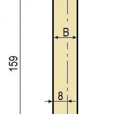 F10: Poinçon 26° r1 h 159 mm