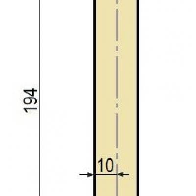 F15W: Poinçon 26° r2 h 194 mm