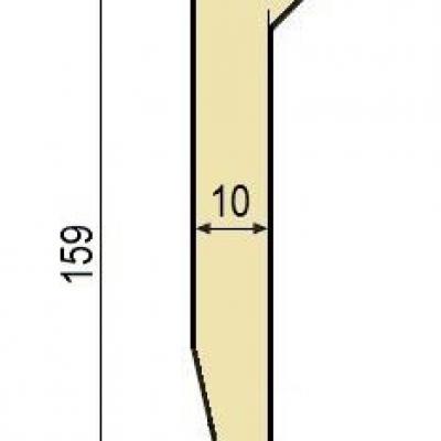 J10: Poinçon 26° r2 h 159 mm