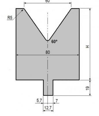 V60-60: matrice V60 à 60°, H90 mm